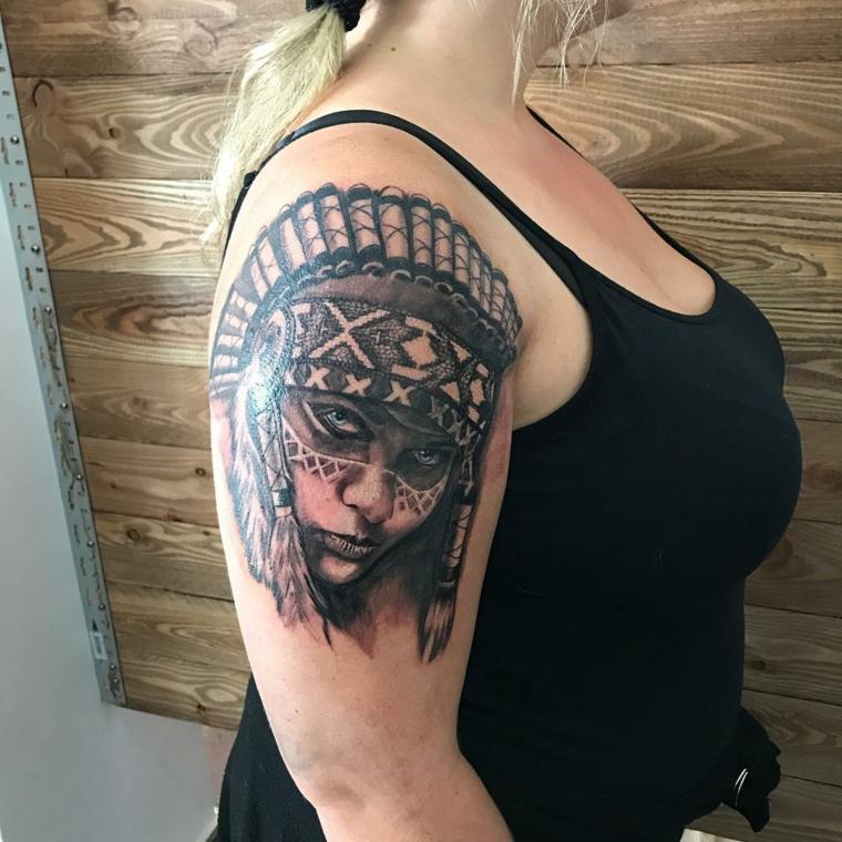 tatouages-pour-lépaule-femme-Inde