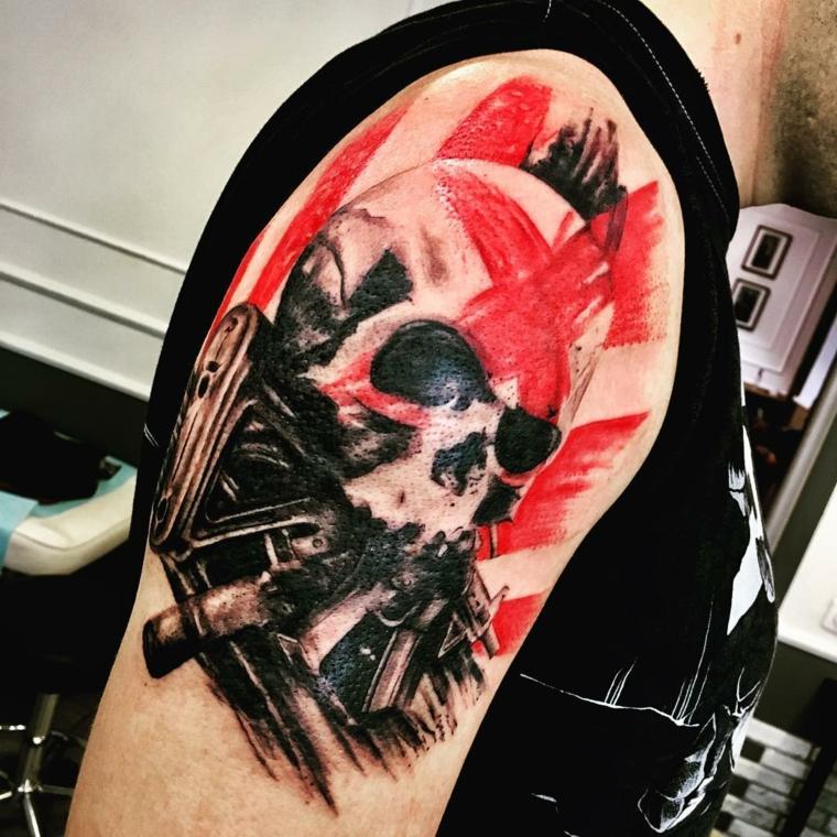 tatouages-pour-lépaule-crâne original