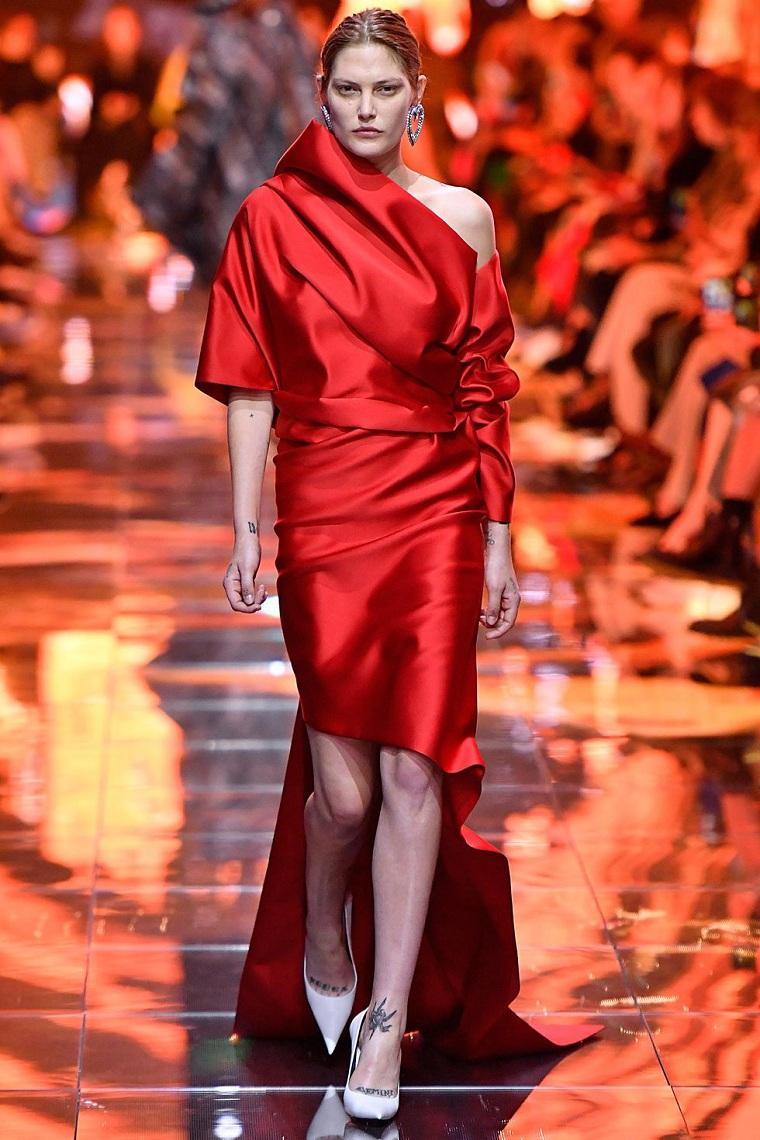 balenciaga-robe-rouge-style élégant