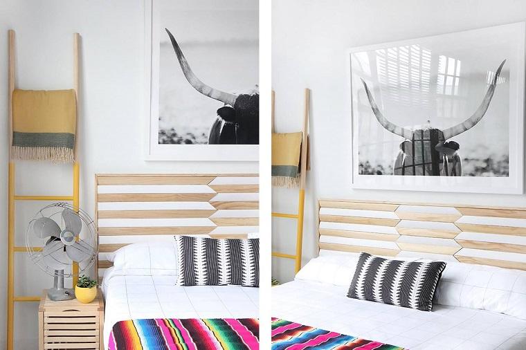 bricolage-tête de lit-style géométrique