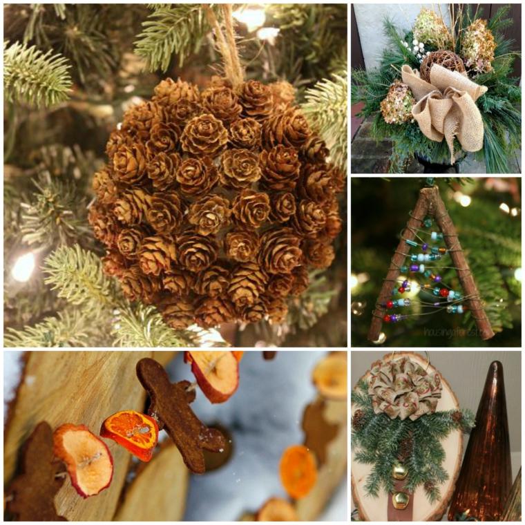 Thèmes de Noël avec des ornements naturels