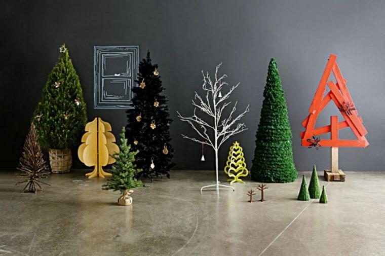Thèmes de Noël avec des ornements modernes
