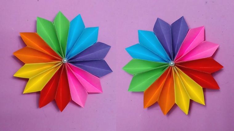 travaux de maison artisanat-fleurs-papier