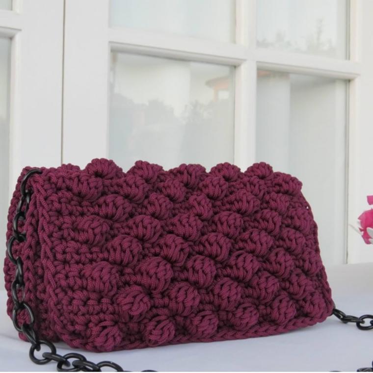 sac tricoté moderne
