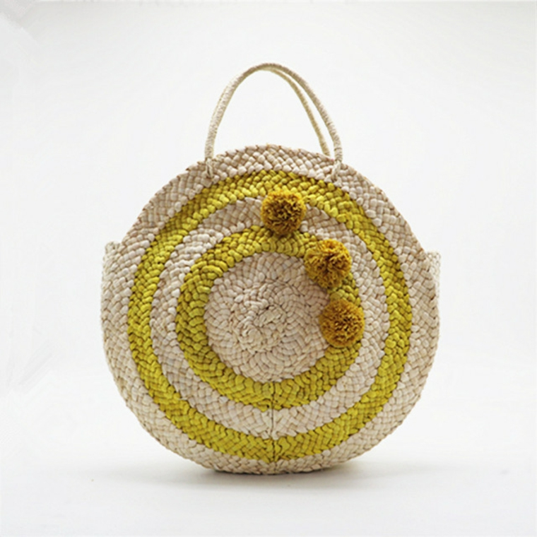 sac rond en tricot