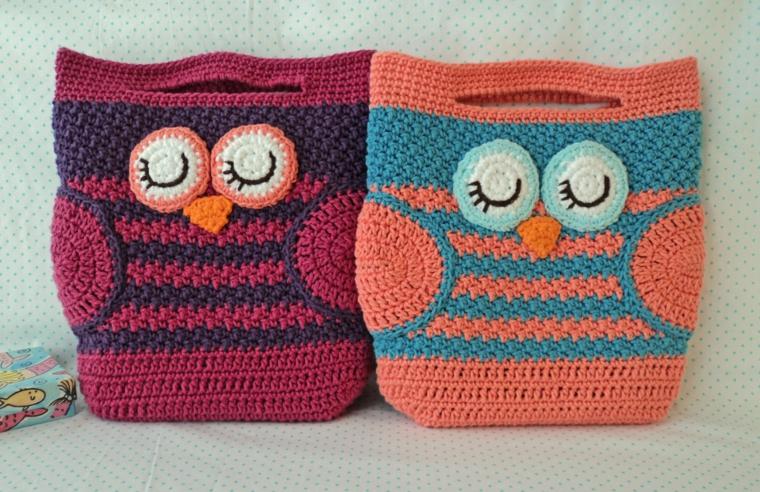 dessins de sacs tricotés modernes