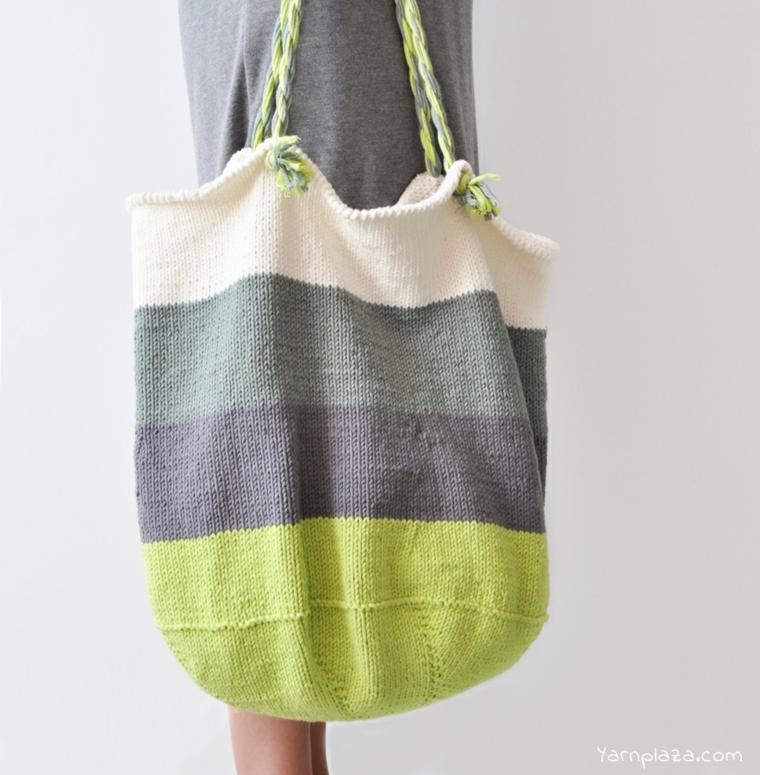 sac au crochet coloré