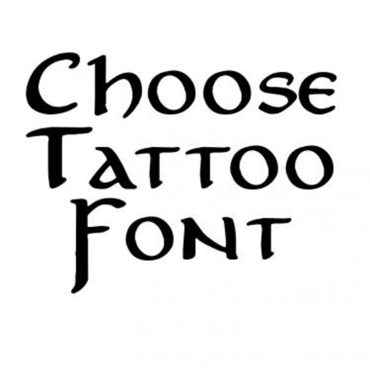 choisir des lettres pour les tatouages