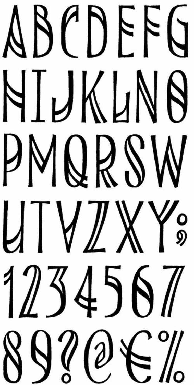 lettres pour les styles de tatouages