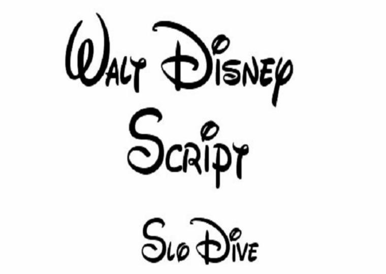 lettres pour les tatouages Disney