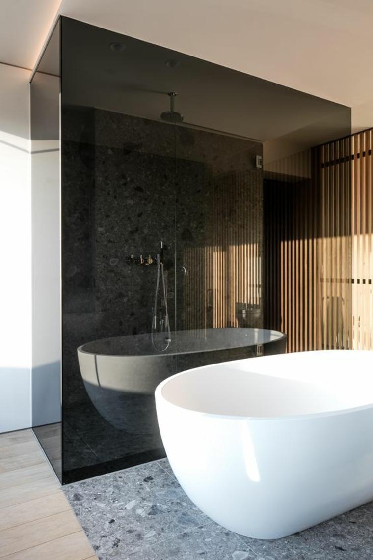 verre fumé brun-salle de bain