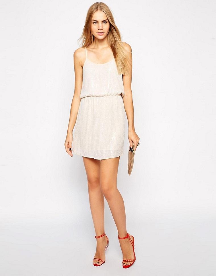 vêtements de mode pour femmes-robe-courte-blanc
