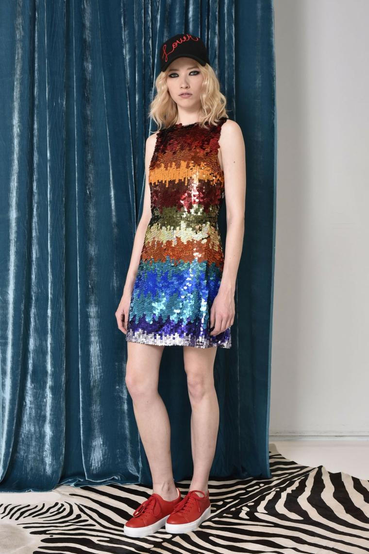 robe courte colorée alice et olivia