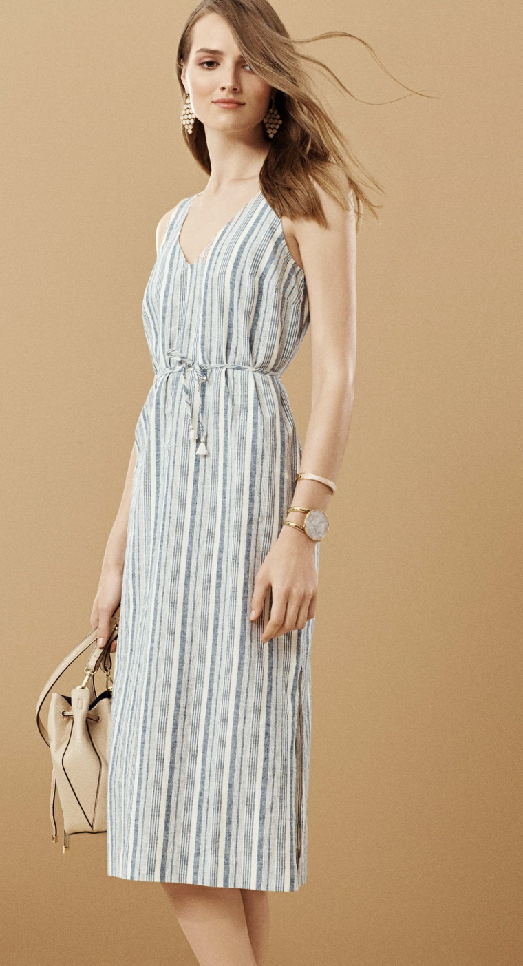 Ann-Taylor-robe-rayures-original-options