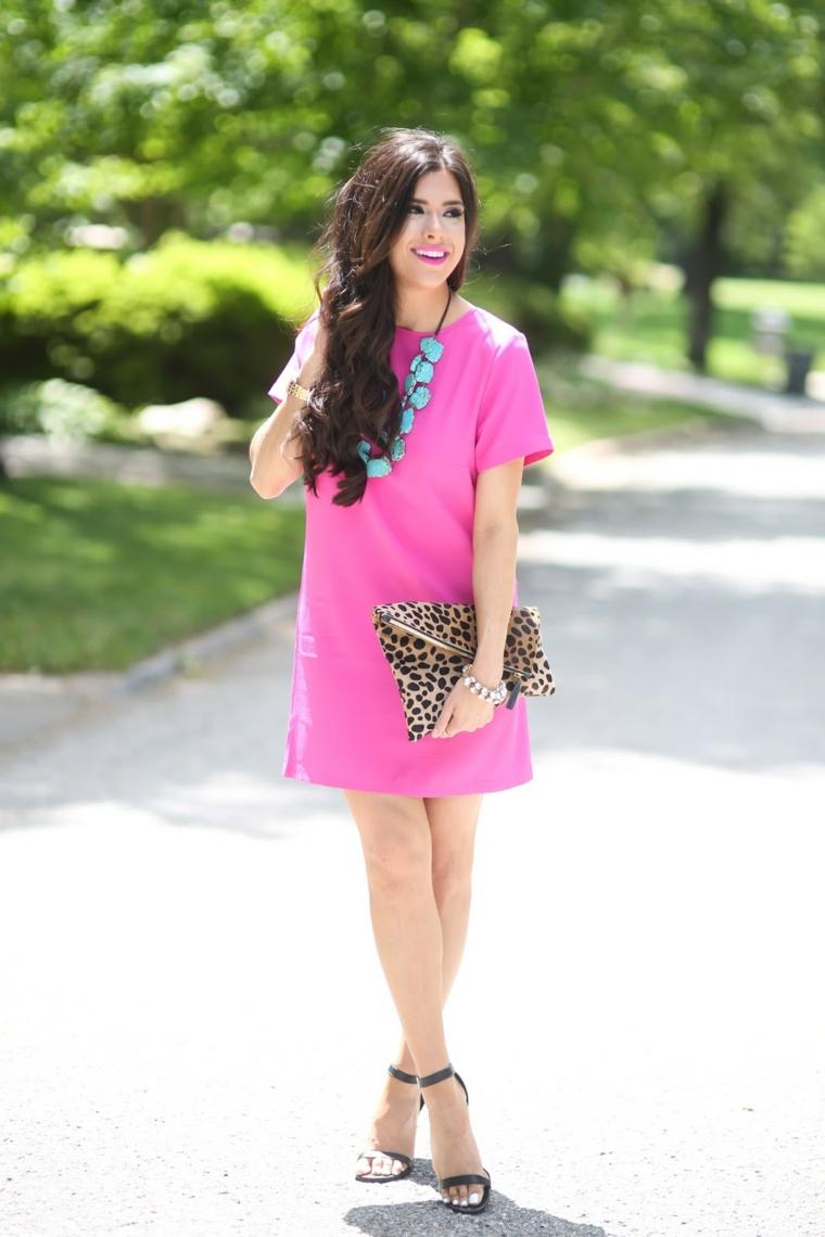 couleur-rose-robe-simple-short-design