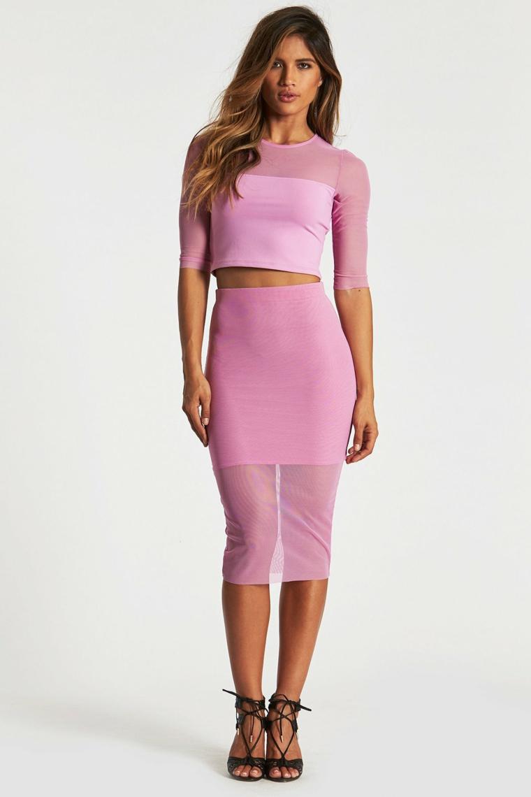 Donna-Mizani-jupe-blouse-rose