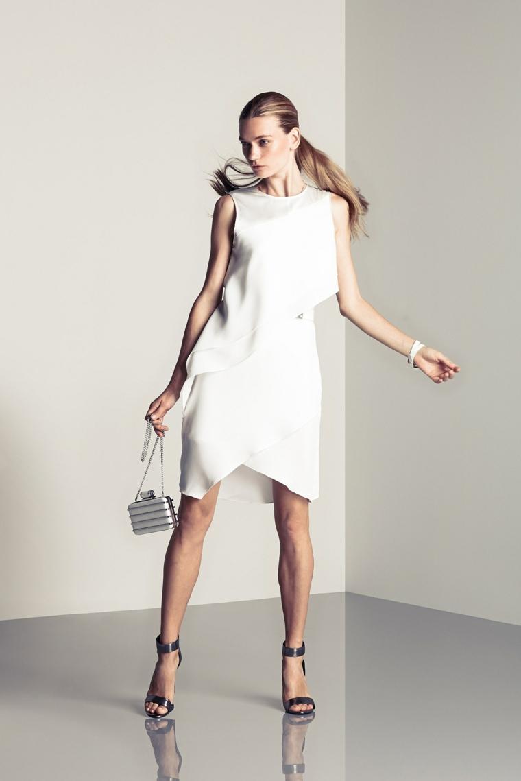 Halston-Heritage-robe-moderne-blanc