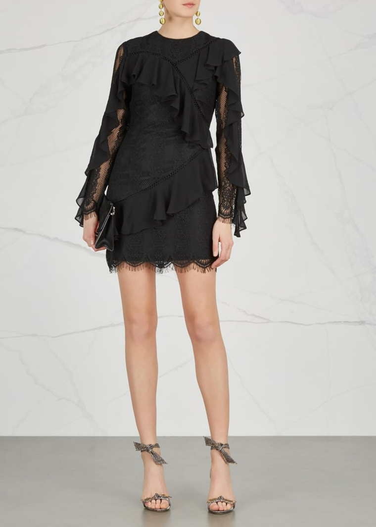KEEPSAKE-robe-noir-volants-options