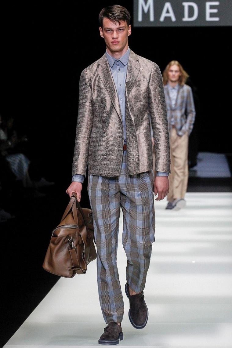 pantalon à carreaux-veste-homme lumineux