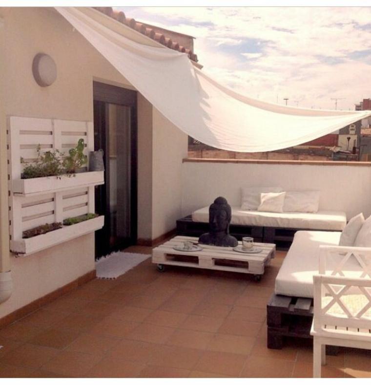 Beau style de terrasse original se détendre avec des palettes