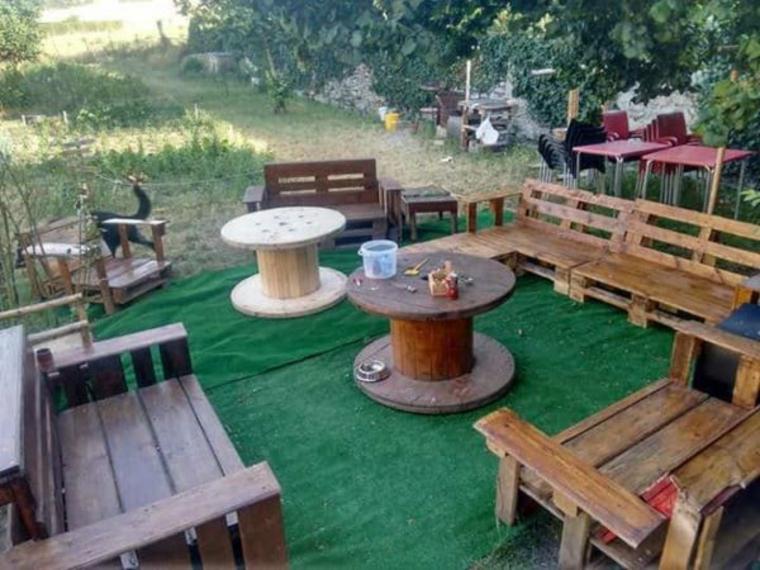 ensemble de meubles terrasse bois